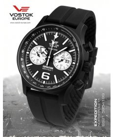 Vostok Europe Expedition North Pole 1 Chrono Line 6S21/5954199 silikón black