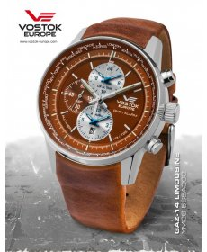 Vostok Europe GAZ-14 world timer/alarm line  YM26/565A292