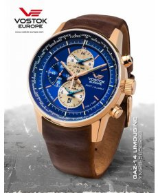 Vostok Europe GAZ-14 world timer/alarm line  YM26/565B293