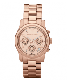 Michael Kors Runway Rose Gold-Tone Chronograph MK5128