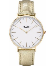 Cluse Minuit Gold White/ Gold Metal CL30036