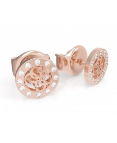 Náušnice Guess Miniature Rose Gold UBE79035