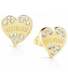 Náušnice Guess Hearts Gold UBE78052